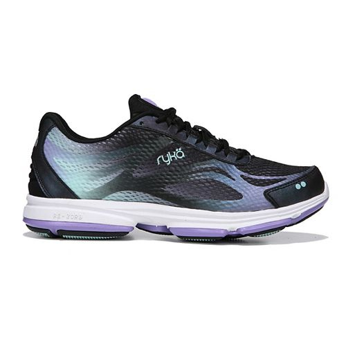 Womens Ryka Devotion Plus 2 Walking Shoe - Black/Purple 10.5