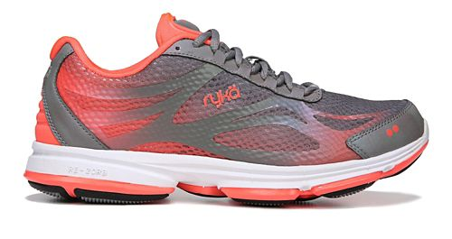 Womens Ryka Devotion Plus 2 Walking Shoe - Grey/Coral 11