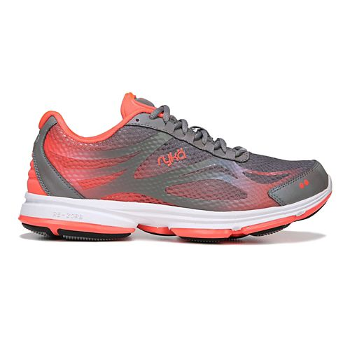 Womens Ryka Devotion Plus 2 Walking Shoe - Grey/Coral 9.5