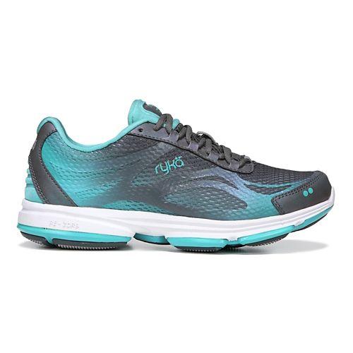 Womens Ryka Devotion Plus 2 Walking Shoe - Grey/Teal 8.5