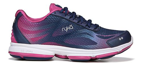 Womens Ryka Devotion Plus 2 Walking Shoe - Blue/Pink 7.5