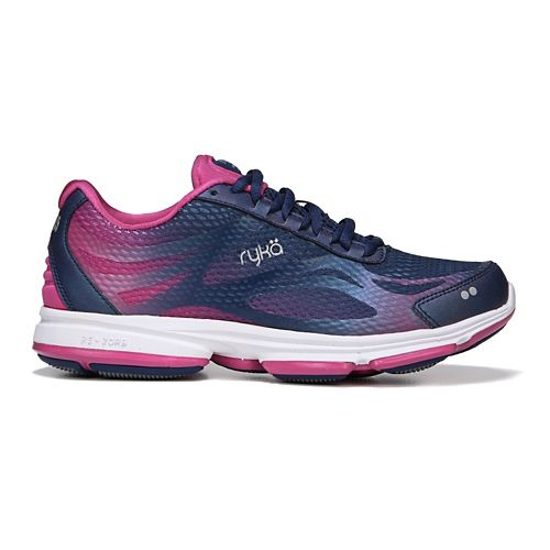 Womens Ryka Devotion Plus 2 Walking Shoe - Blue/Pink 9.5
