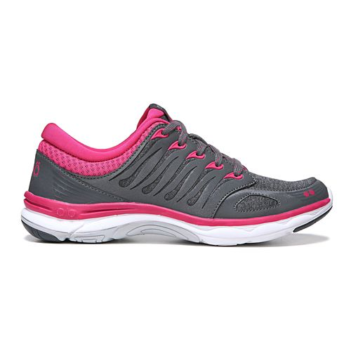 Womens Ryka Flora Walking Shoe - Grey/Pink 7.5