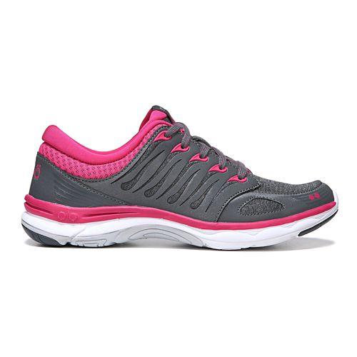 Womens Ryka Flora Walking Shoe - Grey/Pink 9.5