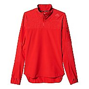 Mens adidas Supernova Storm Half-Zip Long Sleeve Technical Tops