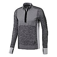 Mens adidas Ultra Primeknit Half-Zip Long Sleeve Technical Tops