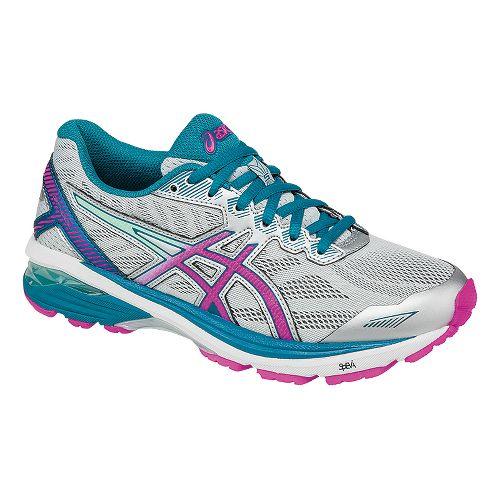 Womens ASICS GT-1000 5 Running Shoe - Silver/Pink 11.5