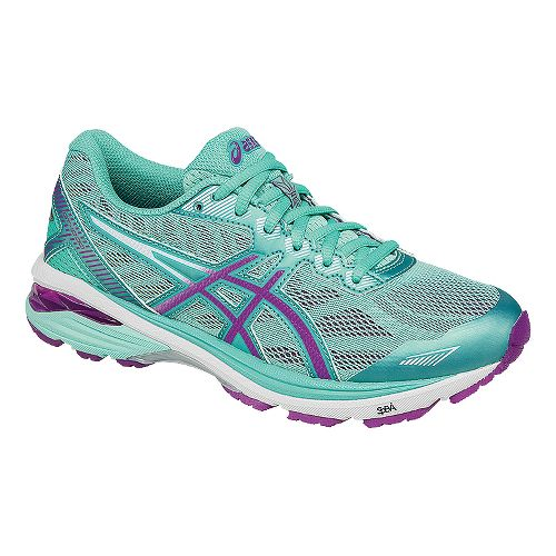 Womens ASICS GT-1000 5 Running Shoe - Mint/Purple 8.5