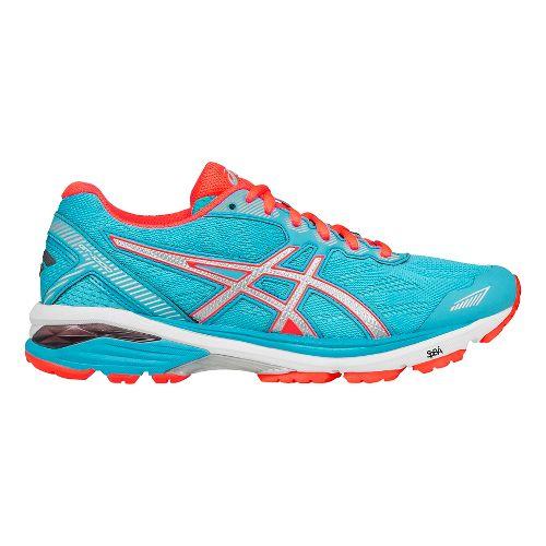 Womens ASICS GT-1000 5 Running Shoe - Aqua/Silver 12