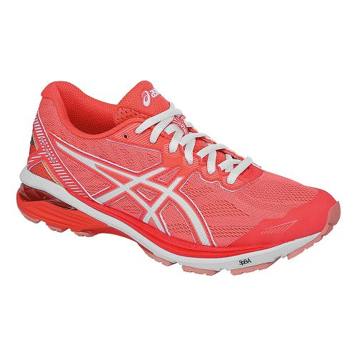 Womens ASICS GT-1000 5 Running Shoe - Coral/White 10.5