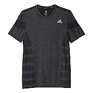 Mens adidas Ultra Wool Primeknit Short Sleeve Technical Tops