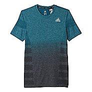 Mens adidas Ultra Wool Primeknit - DipDye Short Sleeve Technical Tops