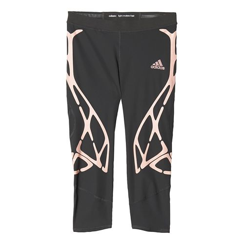 Womens adidas Adizero Sprintweb Three-Quarter Tights & Leggings Pants - Black/Pink M