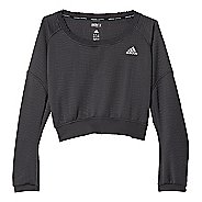 Womens adidas AKTIV Pullover Long Sleeve Technical Tops