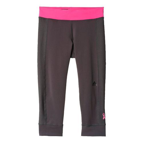 Womens adidas AKTIV Three Quarter Tight - BCA Tights & Leggings Pants - Black/Shock Pink ...