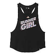 Womens adidas Graphic Tank - Runner Girl Sleeveless & Tank Technical Tops