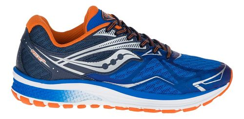 Kids Saucony Ride 9 Running Shoe - Blue/Orange 4.5Y