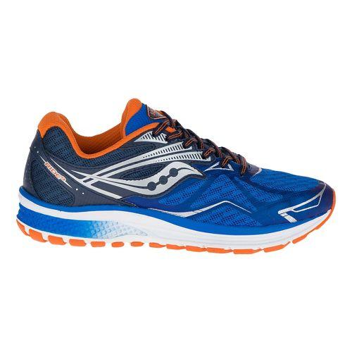 Kids Saucony Ride 9 Running Shoe - Blue/Orange 1Y