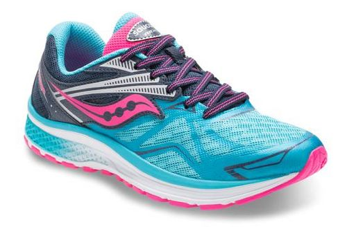 Kids Saucony Ride 9 Running Shoe - Blue/Pink 1.5Y