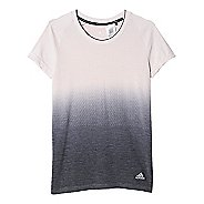 Womens adidas Ultra Wool Primeknit - DipDye Short Sleeve Technical Tops