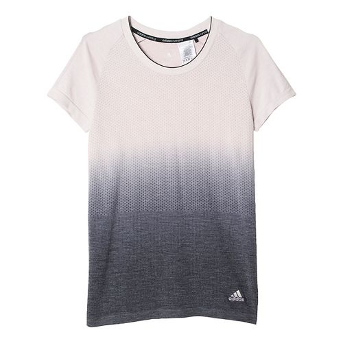 Womens adidas Ultra Wool Primeknit - DipDye Short Sleeve Technical Tops - Ice Purple/Black M ...