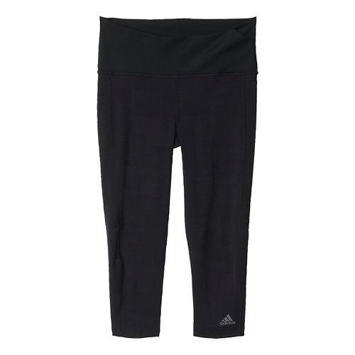 Womens adidas Ultra Energy Three-Quarter Tights & Leggings Pants - Black XS