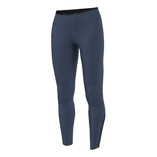 Womens adidas Climaheat Long Tights & Leggings Pants - Mineral Blue L