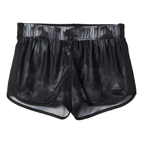 Womens adidas M10 Knitted Short - Northern Lights Print Unlined Shorts - Black S