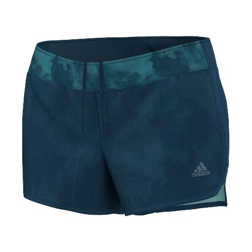 Womens adidas M10 Knitted Short - Northern Lights Print Unlined Shorts - Tech Steel S ...