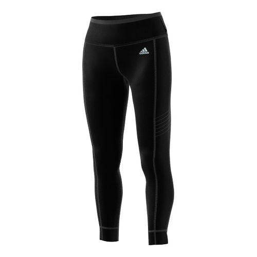 Womens adidas Sequencials Climaheat Long Tights & Leggings Pants - Black/Black L