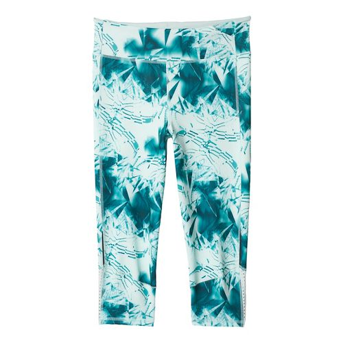 Womens adidas Supernova Three-Quarter - Print Tights & Leggings Pants - Vapour Green M