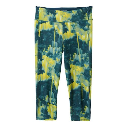 Womens adidas Supernova Three-Quarter - Print Tights & Leggings Pants - Utility Green S