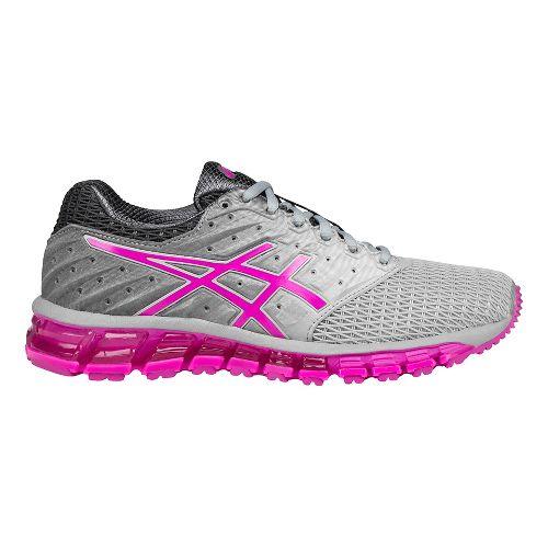 Womens ASICS GEL-Quantum 180 2 Running Shoe - Grey/Pink 10.5