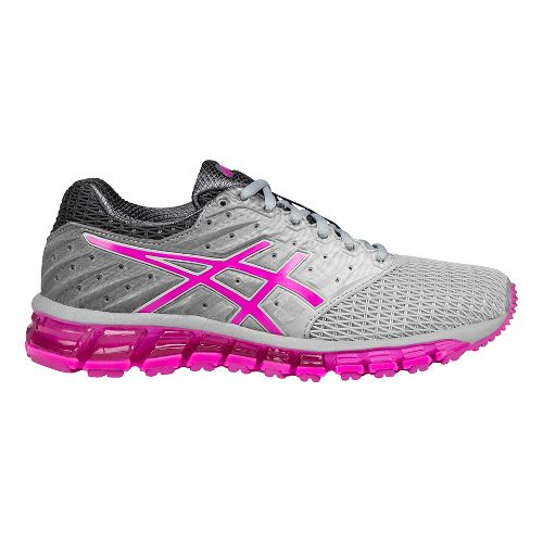 Womens ASICS GEL-Quantum 180 2 Running Shoe - Grey/Pink 6.5