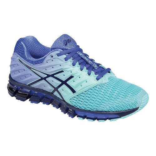 Womens ASICS GEL-Quantum 180 2 Running Shoe - Mint/Purple 10.5