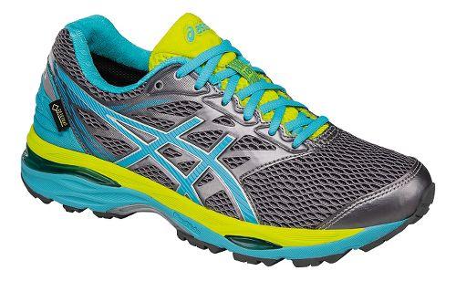 Womens ASICS GEL-Cumulus 18 G-TX Running Shoe - Silver/Blue 13
