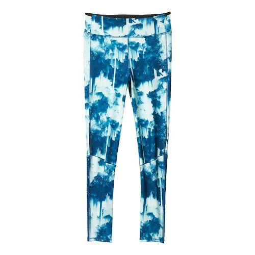 Womens adidas Supernova Long - Print Tights & Leggings Pants - Tech Steel/Ice Green XL ...