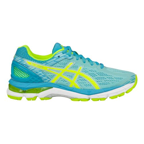 Womens ASICS GEL-Pursue 3 Running Shoe - Aqua/Yellow 5