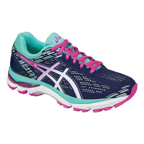 Womens ASICS GEL-Pursue 3 Running Shoe - Blue/Pink 5