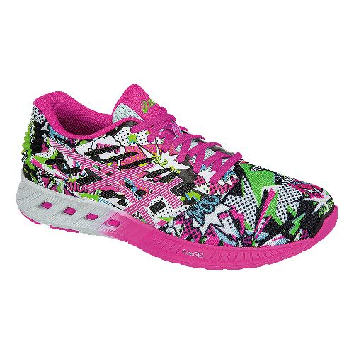 Womens ASICS fuzeX Comic Running Shoe - White/Pink 6.5