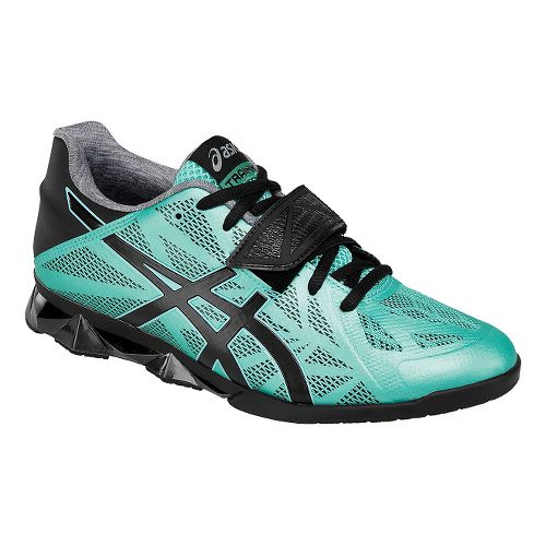 Womens ASICS Lift Master Lite Cross Training Shoe - Mint/Black 6.5