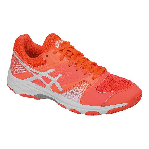 Womens ASICS GEL-Domain 4 Court Shoe - Coral/White 9.5