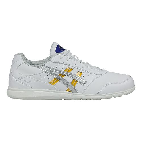 Womens ASICS Cheer 8 Cheerleading Shoe - White/Silver 8