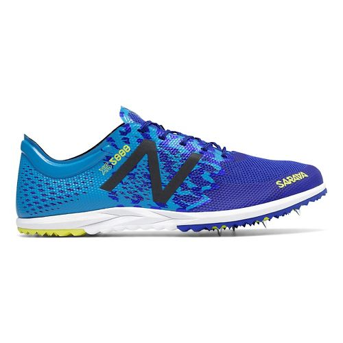 Mens New Balance XC5000v3 Cross Country Shoe - Silver/Blue 12