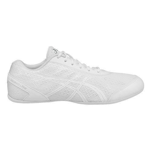Womens ASICS GEL-Ultimate Cheer Cheerleading Shoe - White/Silver 10