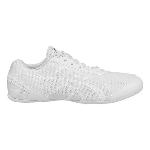 Womens ASICS GEL-Ultimate Cheer Cheerleading Shoe - White/Silver 6.5