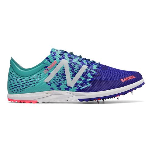 Womens New Balance XC5000v3 Cross Country Shoe - Blue/Green 6.5