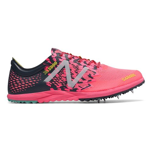 Womens New Balance XC5000v3 Cross Country Shoe - Pink/Black 7.5