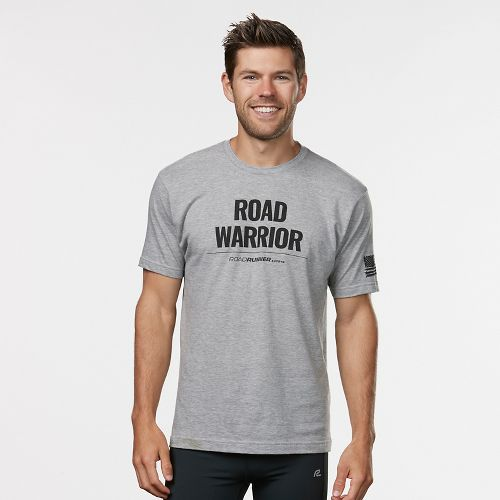 Mens R-Gear Road Warrior Graphic Tee Short Sleeve Technical Tops - Heather Grey L