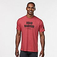 Mens R-Gear Road Warrior Graphic Tee Short Sleeve Technical Tops - Heather Red XL